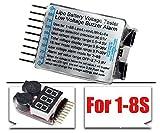 1-8s Lipo Battery Tester Low Voltage Buzzer Alarm Rc 1s