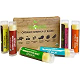 USDA Organic Lip Balm By Sky Organics - 6 Pack Assorted Flavors -- With Beeswax, Coconut Oil, Vitamin E. Best...