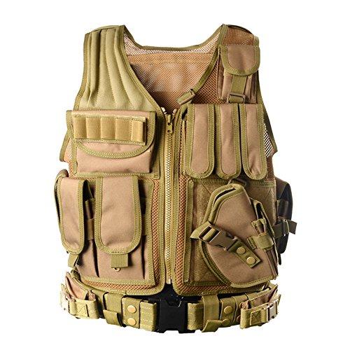 YAKEDA®Fournitures police et les militaires, engins tactiques, équipement de plein air veste tactique domaine des ventilateurs Armée pour les hommes J...