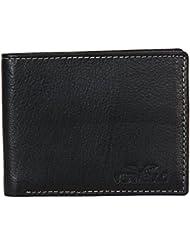 Vermello Black Designer 100% Genuine Leather Wallet For Mens