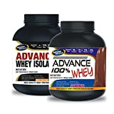 Advance Whey Isolate Protein 1kg Vanilla& ADVANCE 100% WHEY 25gm Protein Per 33gm 1kg Chocolate (Combo Offer)