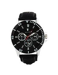 Swiss Trend Black Dial Mens Wrist Watch With Dummy Chronometer (Artshai-1631-Black)