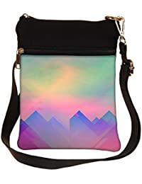 Snoogg Abstract Formations Cross Body Tote Bag / Shoulder Sling Carry Bag