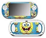 Spongebob Squarepants Sponge Bob Patrick Cartoon Squidward Video Game Vinyl Decal Skin Sticker Cover for Sony Playstation Vita Regular Fat 1000 Series System