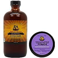 "Sunny Isle Extra Dark Jamaican Black Castor Oil 8 Oz & Lavender Hair Pomade 4 Oz ""Set"""