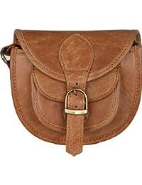 The Backbencher Tan Leather Sling Bag