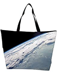 Snoogg Earth Image From The Top Designer Waterproof Bag Made Of High Strength Nylon