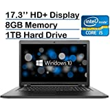 Lenovo Ideapad 17.3-inch HD+ Laptop PC (6th Gen Intel Core I5-6200U 2.3GHz Processor, 8GB Memory, 1TB HDD, DVD-RW, Bluetooth, HDMI, Wireless A/C, Windows 10-Black)