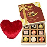 Chocholik 9Pc Sweet Chocolate Collection With Heart Pillow Valentine Day Gifts