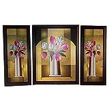 Positive Energy Canvas Hanging Wall Art Decorative Painting Frame (3pcs Set) D8