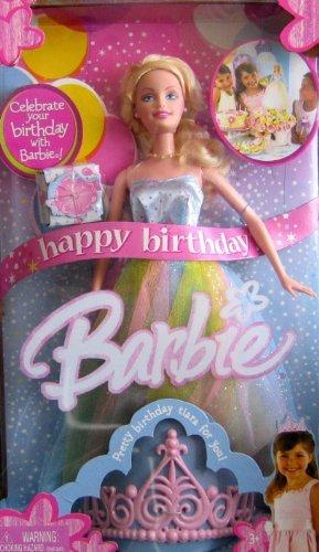 Amazon.com: Happy Birthday Barbie Doll with Pastel Rainbow