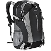 Eaglewill 50L Outdoor Backpack For Camping Hiking Traveling Climbing Running Cycling Sports Daypack Bag(Black)