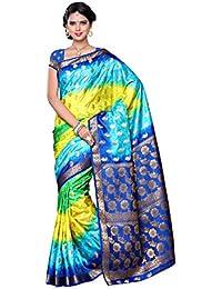 Mimosa Women's Traditional Art Silk Saree Kanjivaram Style With Blouse Color:Multi(3306-103-4D-BAYG )