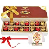 Decadent Nicely Wrapped Chocolate Box With Birthday Card - Chocholik Belgium Chocolates
