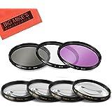 7 PC Filters Set : 52mm 7PC Filter Set For Nikon D3100, D3200, D3300, D5100, D5200, D5300, D5500 With NIKKOR 18-55mm F/3.5-5.6G VR II Lens - Includes 3 PC Filter Kit (UV-CPL-FLD) And 4 PC Close Up Filter Set (+1+2+4+10)