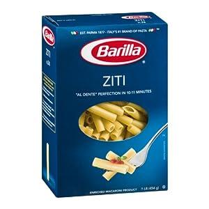 Amazon.com : Barilla Ziti Pasta 16 oz : Grocery & Gourmet Food