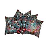 "JAIPURWALAS Handmade Traditional Cotton Cushion Cover Set Of 5 Pcs 16"" X !6"""