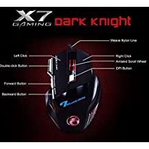 AmiciKart® X7 Premium Professional Wired Gaming Mouse, 7 Button, 5500 DPI LED Optical USB Gamer Computer Mouse...