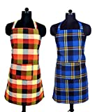 Branded Waterproof Checkered Apron Combo Free size