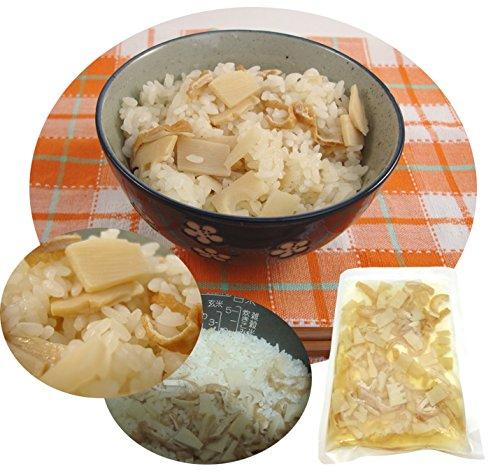 国産、福岡県八女産 八女さんちの 筍屋が本気で作った、たけのこたっぷり、シャキシャキ炊き込みご飯の素 2合用(3人前)