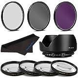 58MM Professional Macro & Lighting Filter Kit For Panasonic Lumix G Vario 14-140mm F3.5-5.6 ASPH. / Power O.I.S...