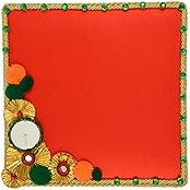 Festivities Satin Decorative Tray (28 Cm X 24 Cm X 28 Cm, FE09)