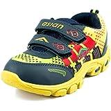Asian Shoes ALIEN-02 NavyBlue YellowMesh Kids Shoes