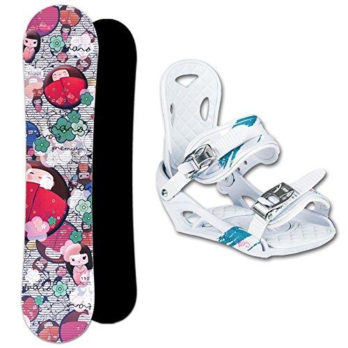 TRANS Snowboard Set PREMIUM GIRL Kids 130cm + Eco Bindung Gr. M (EU 36-40)