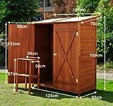 Holz Gerätehaus Geräteschuppen Gartenschrank Geräteschrank Gartenhaus 159x139x75 cm