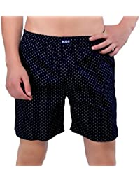 BUGG Brand Printed Boxer Shorts - Blue Line Prints