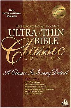 NKJV Large Print Ultrathin Reference Bible Black Letter Edition, Premium Black Genuine Leather