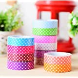 Set Of 12 Colorful And Attractive Adhesive Paper Tapes For Decorative Purposes Like Art And Craft Projects, Gifts...