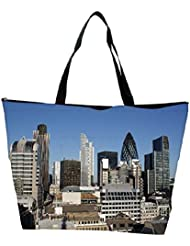 Snoogg Abstract Buildings Designer Waterproof Bag Made Of High Strength Nylon