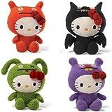 Hello Kitty Uglydoll 7 Inch Plush Set Of 4: Wage, Ice Bat, Ox, And Trunko