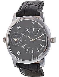 Laser Quartz Analog Black Dial Men's Watch - Y_2024_BLACK
