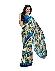 Anu Designer Self Print Saree (6410B_Multi-Coloured)