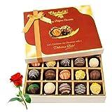 Valentine Chocholik's Belgium Chocolates - Best Festive Truffles Collection With Red Rose