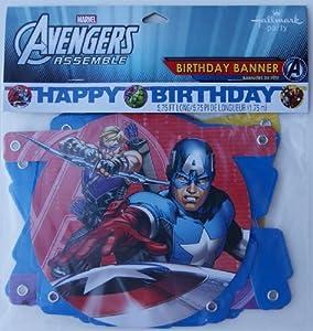 Amazon.com: Marvel Avengers Assemble Happy Birthday Banner ...