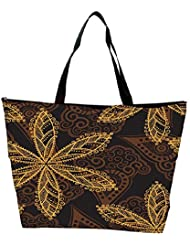 Snoogg Seamless Texture With Flowers And Butterflies Endless Floral Pattern Waterproof Bag Made Of High Strength... - B01I1KH8FU
