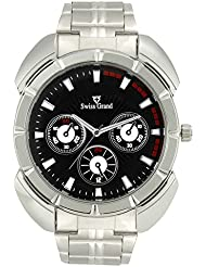 Swiss Grand SG-1164 Silver Coloured With Silver Stainless Steel Strap Analog Quartz Watch For Men