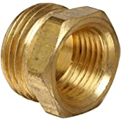 """Anderson Metals Brass Garden Hose Fitting, Connector, 3/4"""" Male Hose ID X 3/8"""" Female Pipe"""