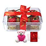 Amazing Collection With Teddy And Love Card - Chocholik Luxury Chocolates