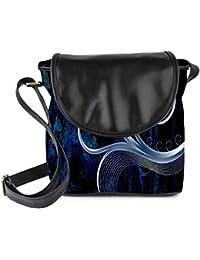 Snoogg Design Vector Grey Womens Sling Bag Small Size Tote Bag