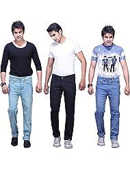 X-CROSS Men's Slim Fit Jeans Combo (Pack Of 3) - B0132WRTB0