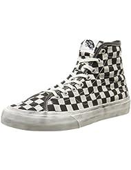 Vans - Unisex-Adult Overwashed Sk8-Hi Decon Shoes Black/Check 10 C/D US Women / 8.5 D(M) US Men