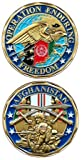 Operation Enduring Freedom Coin Afghanistan Coin Military Collectibles Men Women