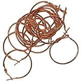 Segolike Wholesale 20Pcs Vintage Brass Metal Large Round Hoops Earrings Findings 30mm - Rose Gold