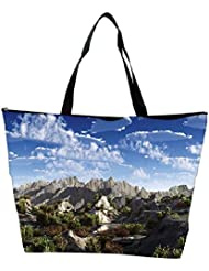 Snoogg Mountains From Top Designer Waterproof Bag Made Of High Strength Nylon