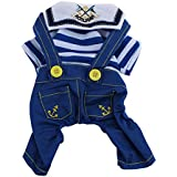 Imported Pet Dog Cat Puppy Clothes Romper Costume Hoodie Jumpsuit Apparel Coat Blue M