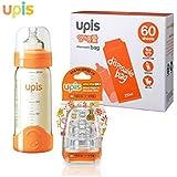 Upis Disposable Baby Feeding Bottle Set, BPA Free (60 Sheets)